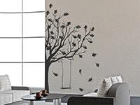 Wandtattoo Herbstbaum mit Schaukel