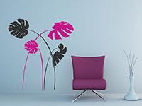 Stilvolles Amazonas Wandtattoo in schwarz und pink