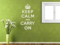 Wandtattoo Spruch Keep calm... im Flur