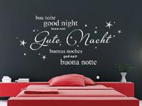 Wandtattoo Gute Nacht in verschiedenen Sprachen | Bild 2