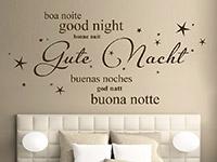 Wandtattoo Gute Nacht in verschiedenen Sprachen | Bild 3