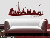 Skyline Wandtattoo Paris im Wohnzimmer