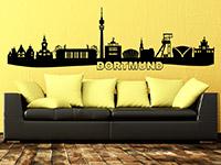 Skyline Wandtattoo Dortmund im Wohnzimmer