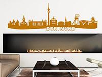 Skyline Dortmund Wandtattoo über der Couch