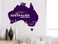 Australien Wandtattoo im Wohnzimmer
