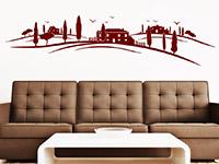 Wandtattoo Toskana Landschaft im Wohnzimmer