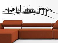 Toskana Landschaft Wandtattoo als stylische Deko an der Wand