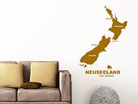 Neuseeland Wandtattoo im Wohnzimmer