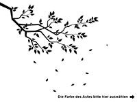 Wandtattoo Ast mit Blättern Motivansicht