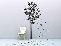 Ahorn Wandtattoo Baum im Flur