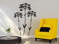 Anis Blüten Wandtattoo in schwarz