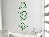 Kreis Wandtattoo Stilvolle Kreise über der Badewanne