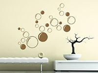 Kreise Wandtattoo Ornament Bubbles im Wohnbereich