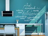 dekoratives Geschmacks Wandtattoo in der Küche
