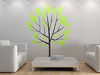 Bäumchen Wandtattoo mit leuchtend grünen Blättern