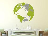 Wandtattoo 3D Globus | Bild 2