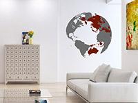 Wandtattoo 3D Globus | Bild 3