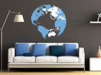 Wandtattoo 3D Globus | Bild 4