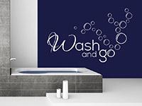 Wandtattoo Wash and go