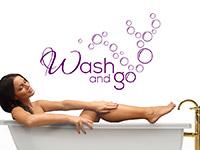 Wellness Wandtattoo Wash and go als traumhafte Badezimmer Deko