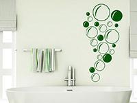 Ornament Wandtattoo Seifenblasen im Badezimmer