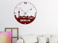 Wandtattoo Uhr Berlin als Wohnzimmer Dekoration