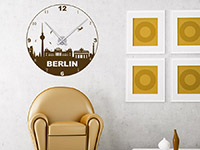 Berlin Wandtattoo Uhr als stylische Dekoidee