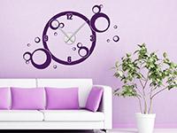 Wandtattoo Uhr Kreise im Wohnzimmer