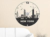 Wandtattoo Uhr New York