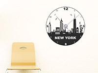 Wandtattoo Uhr New York im Flur
