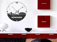 München Wandtattoo Uhr als dekorative Wandgestaltungsidee