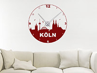 Wandtattoo Uhr Köln im Wohnzimmer