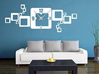 Wandtattoo Uhr Retro Cubes | Bild 4