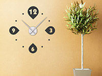 Wandtattoo Uhr Moderne Kreise