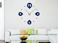 Wandtattoo Uhr Moderne Kreise im Wohnzimmer