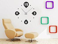 Kreise Wandtattoo Uhr auf heller Wandfläche