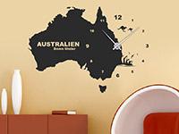 Wandtattoo Uhr Australien