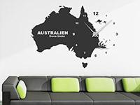 Australien Wandtattoo Uhr über der Couch