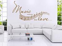 Wandtattoo Music...  im Wohnzimmer