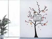 Wandtattoo Fotobaum Familie im Flur