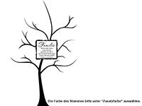 Wandtattoo Fotobaum Familie Motivansicht