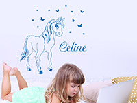 Wandtattoo Pony mit Name