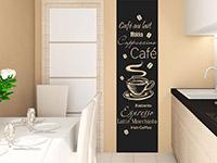 Wandtattoo Kaffee Banner in der Küche