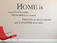 Wandtattoo Home is... im Wohnzimmer