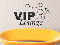 Vip Lounge Wandtattoo mit Retro Kreisen als Dekoidee