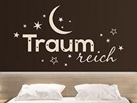 Wandtattoo Traumreich mit Sternen im Schlafzimmer