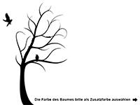 Wandtattoo Baum im Sturm Motivansicht