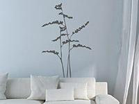 Modernes Wandtattoo Gräser im Wohnzimmer