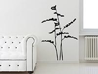 Stilisiertes Gräser Wandtattoo in schwarz
