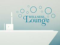 Wellness Wandtattoo Lounge mit Kreisen als Dekoidee